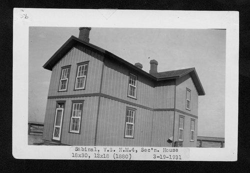 Atchison, Topeka & Santa Fe Railway Company section house, Sabinal, New Mexico - Page