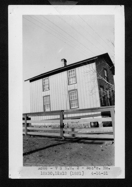 Atchison, Topeka & Santa Fe Railway Company section house, Rowe, New Mexico - Page