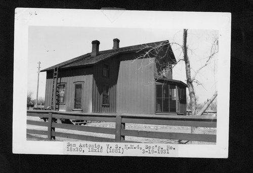 Atchison, Topeka & Santa Fe Railway Company section house, San Antonio, New Mexico - Page