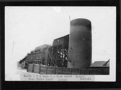 Atchison, Topeka & Santa Fe Railway Company coal chute and water tank, Raton, New Mexico - Page