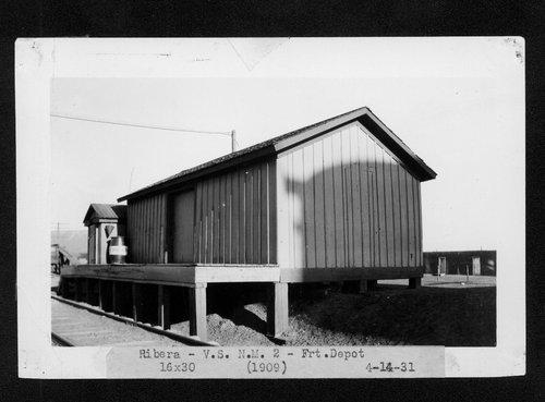 Atchison, Topeka & Santa Fe Railway Company's freight depot, Ribera, New Mexico - Page
