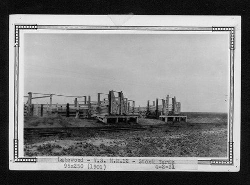 Atchison, Topeka & Santa Fe Railway Company stock pens, Lakewood, New Mexico - Page