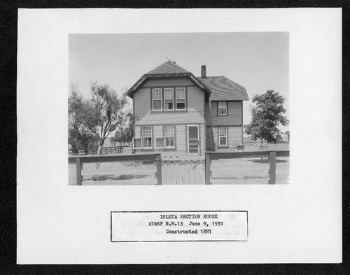 Atchison, Topeka & Santa Fe Railway Company section house, Isleta, New Mexico - Page