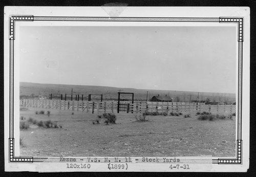 Atchison, Topeka & Santa Fe Railway Company stock pens, Kenna, New Mexico - Page