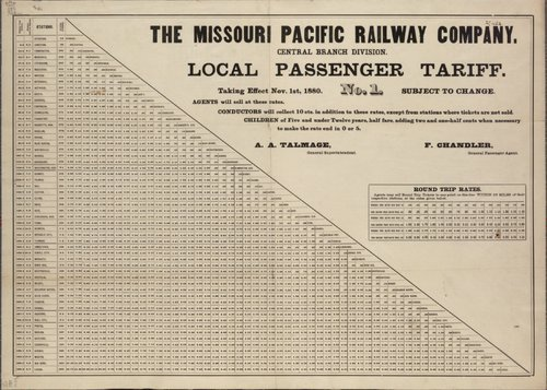 The Missouri Pacific Railway Company local passenger tariff - Page