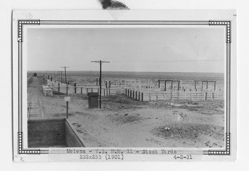 Atchison, Topeka & Santa Fe Railway Company stock pens, Melena, New Mexico - Page
