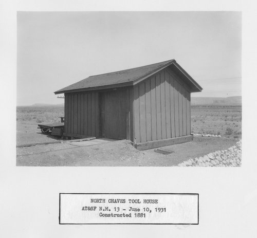 Atchison, Topeka & Santa Fe Railway Company tool house, North Chaves, New Mexico - Page