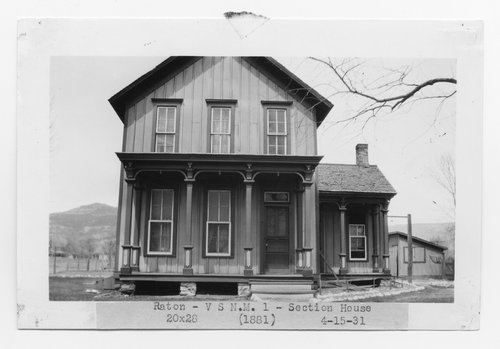 Atchison, Topeka & Santa Fe Railway Company section house, Raton, New Mexico - Page