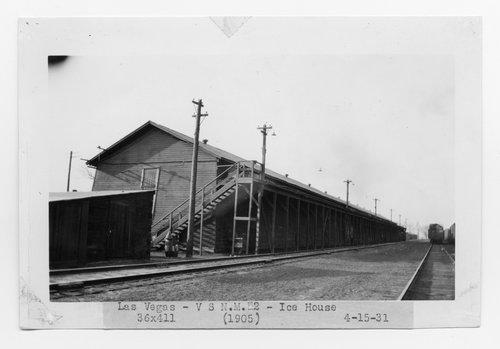 Atchison, Topeka & Santa Fe Railway Company ice house, Las Vegas, New Mexico - Page
