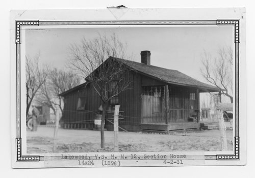 Atchison, Topeka & Santa Fe Railway Company section house, Lakewood, New Mexico - Page