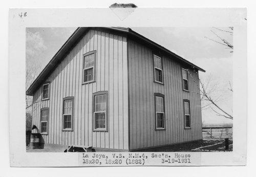 Atchison, Topeka & Santa Fe Railway Company section house, La Joya, New Mexico - Page