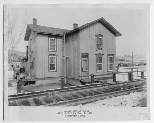 Atchison, Topeka & Santa Fe Railway Company section house, Gallup, New Mexico - Page