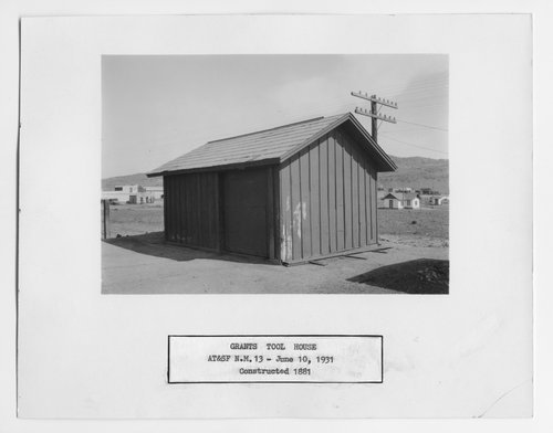 Atchison, Topeka & Santa Fe Railway Company tool house, Grants, New Mexico - Page