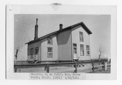 Atchison, Topeka & Santa Fe Railway Company section house, Hockett, New Mexico - Page