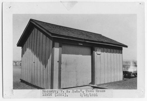Atchison, Topeka & Santa Fe Railway Company tool house, Hockett, New Mexico - Page