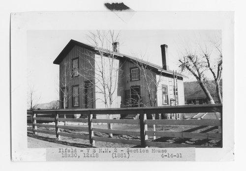 Atchison, Topeka & Santa Fe Railway Company section house, Ilfeld, New Mexico - Page