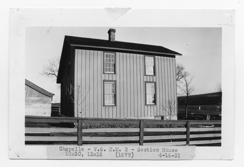 Atchison, Topeka & Santa Fe Railway Company section house, Chapelle, New Mexico - Page