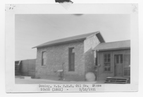 Atchison, Topeka & Santa Fe Railway Company oil house, Deming, New Mexico - Page