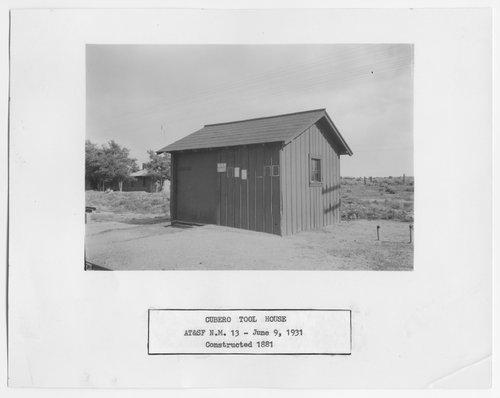 Atchison, Topeka & Santa Fe Railway Company tool house, Cubero, New Mexico - Page