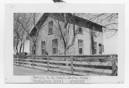 Atchison, Topeka & Santa Fe Railway Company section house, Deming, New Mexico - Page