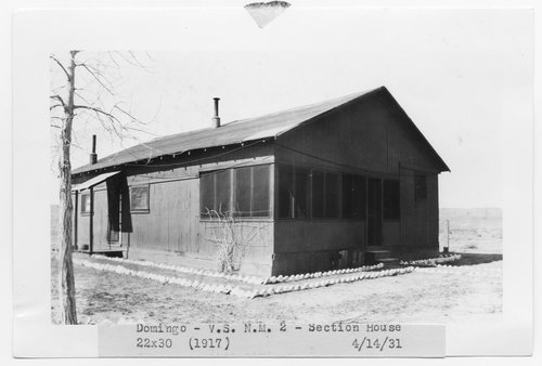 Atchision, Topeka & Santa Fe Railway Company section house, Domingo, New Mexico - Page