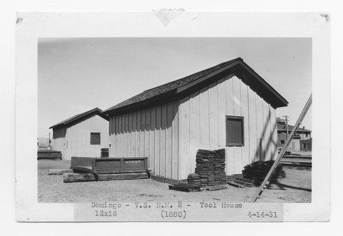 Atchison, Topeka & Santa Fe Railway Company tool house, Domingo, New Mexico - Page