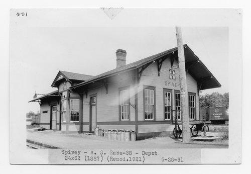 Atchison Topeka & Santa Fe Railway Company depot, Spivey, Kansas - Page
