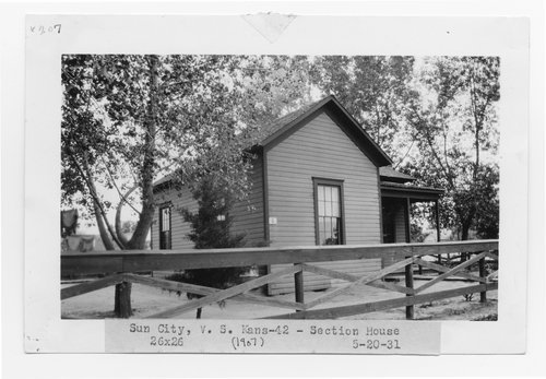 Atchison Topeka & Santa Fe Railway Company section house, Sun City, Kansas - Page