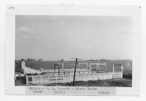 Atchison Topeka & Santa Fe Railway stock pens, Sylvia, Kansas - Page