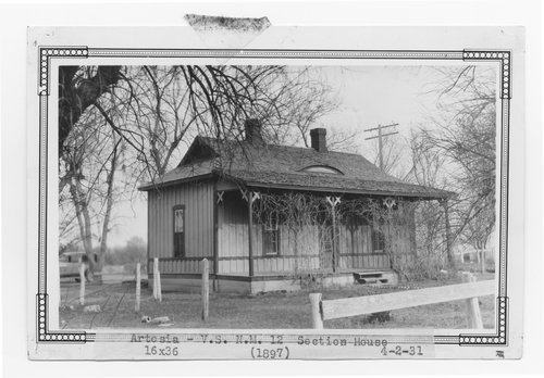Atchison, Topeka & Santa Fe Railway Company section house, Artesia, New Mexico - Page