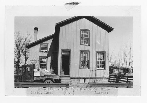 Atchison Topeka & Santa Fe Railway Company section house, Bernalillo, New Mexico - Page