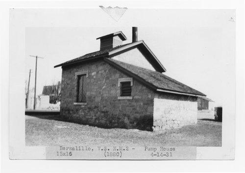 Atchison Topeka & Santa Fe Railway Company pump house, Bernalillo, New Mexico - Page