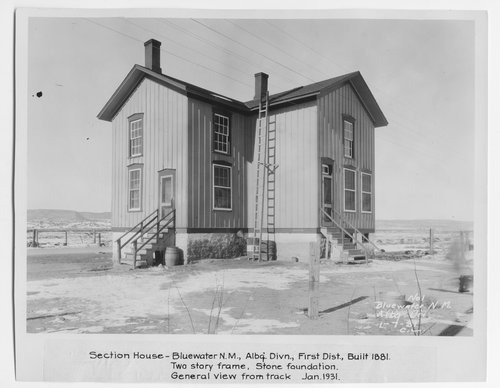 Atchison Topeka & Santa Fe Railway Company section house, Bluewater, New Mexico - Page