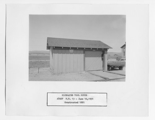 Atchison Topeka & Santa Fe Railway Company tool house, Bluewater, New Mexico - Page