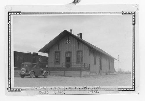 Atchison, Topeka & Santa Fe Railway Company freight house, Carlsbad, New Mexico - Page