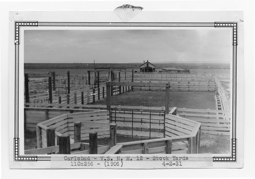 Atchison, Topeka & Santa Fe Railway Company stock pens, Carlsbad, New Mexico - Page