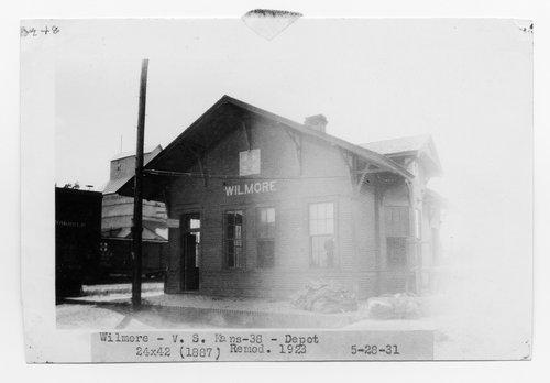 Atchison, Topeka & Santa Fe Railway Company depot, Wilmore, Kansas - Page