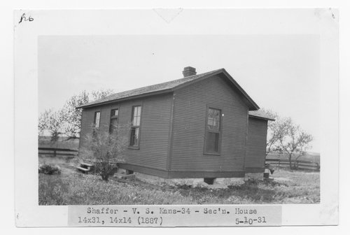 Atchison Topeka & Santa Fe Railway Company section house, Shaffer, Kansas - Page