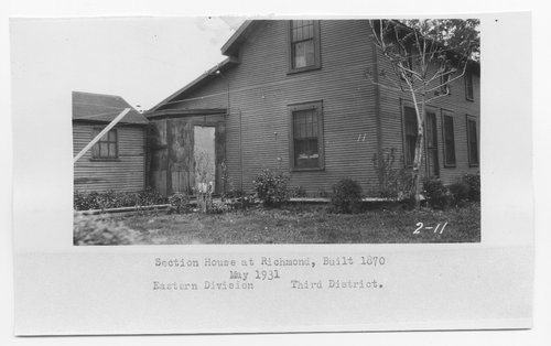 Atchison Topeka & Santa Fe Railway Company section house, Richmond, Kansas - Page