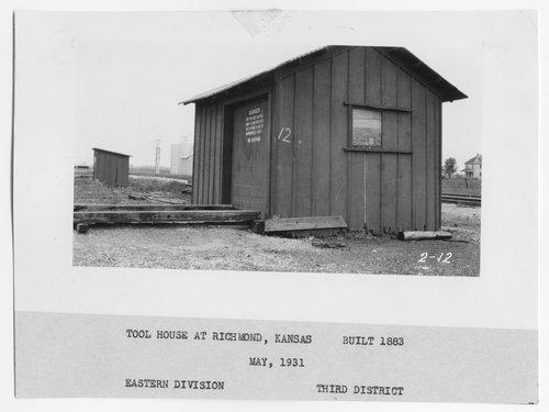 Atchison Topeka & Santa Fe Railway Company tool house, Richmond, Kansas - Page