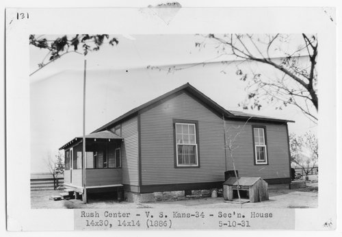 Atchison Topeka & Santa Fe Railway Company section house, Rush Center, Kansas - Page