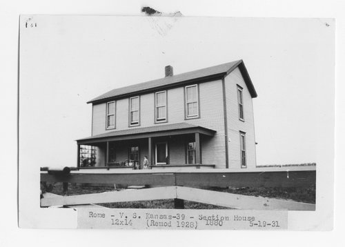 Atchison Topeka & Santa Fe Railway Company section house, Rome, Kansas - Page
