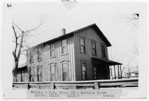 Atchison Topeka & Santa Fe Railway Company section house, Medway, Kansas - Page