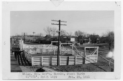 Atchison Topeka & Santa Fe Railway Company stock pen, Milan, Kansas - Page