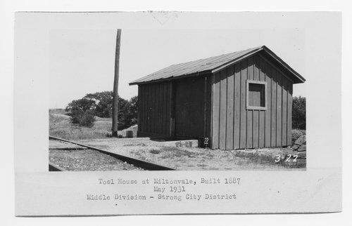 Atchison Topeka & Santa Fe Railway Company tool house, Miltonvale, Kansas - Page