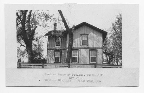 Atchison Topeka & Santa Fe Railway Company section house, Pauline, Kansas - Page