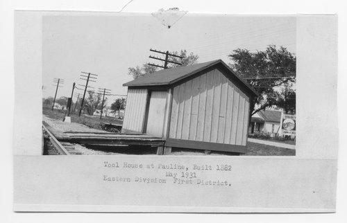 Atchison Topeka & Santa Fe Railway Company tool house, Pauline, Kansas - Page