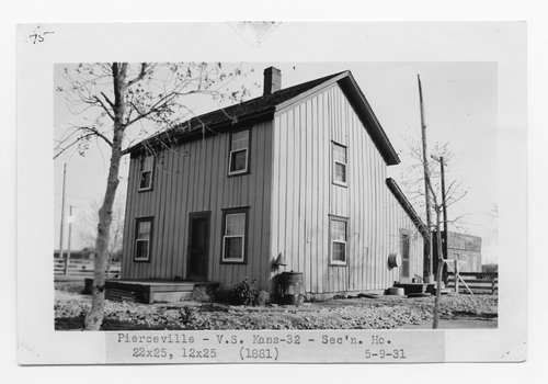 Atchison Topeka & Santa Fe Railway Company section house, Pierceville, Kansas - Page