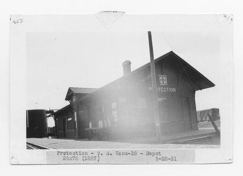 Atchison Topeka and Santa Fe Railway Company depot, Protection, Kansas - Page