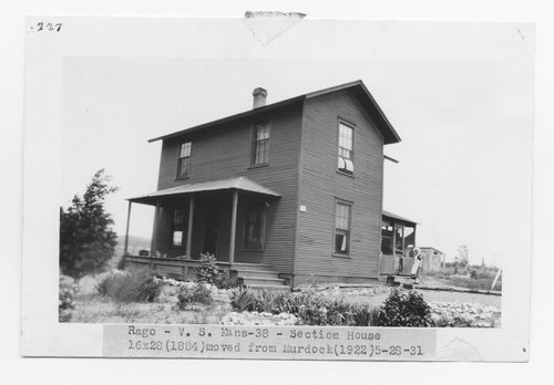 Atchison Topeka & Santa Fe Railway Company section house, Rago, Kansas - Page